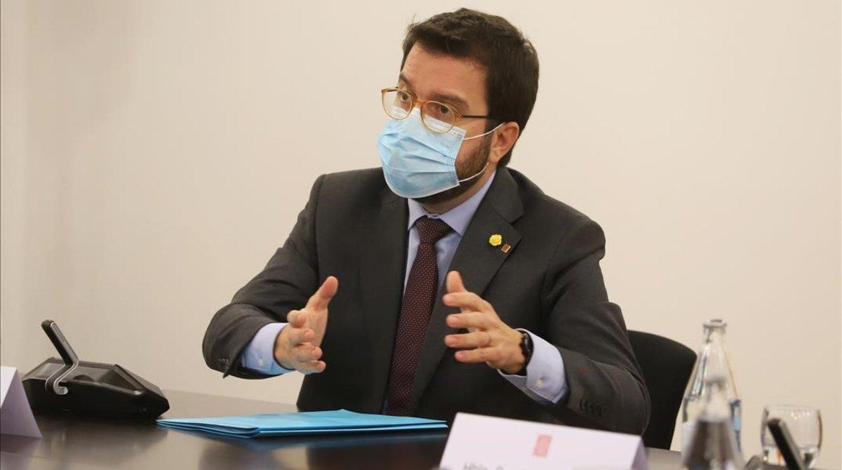 El vicepresidente del Govern y 'president' en funciones, Pere Aragonès