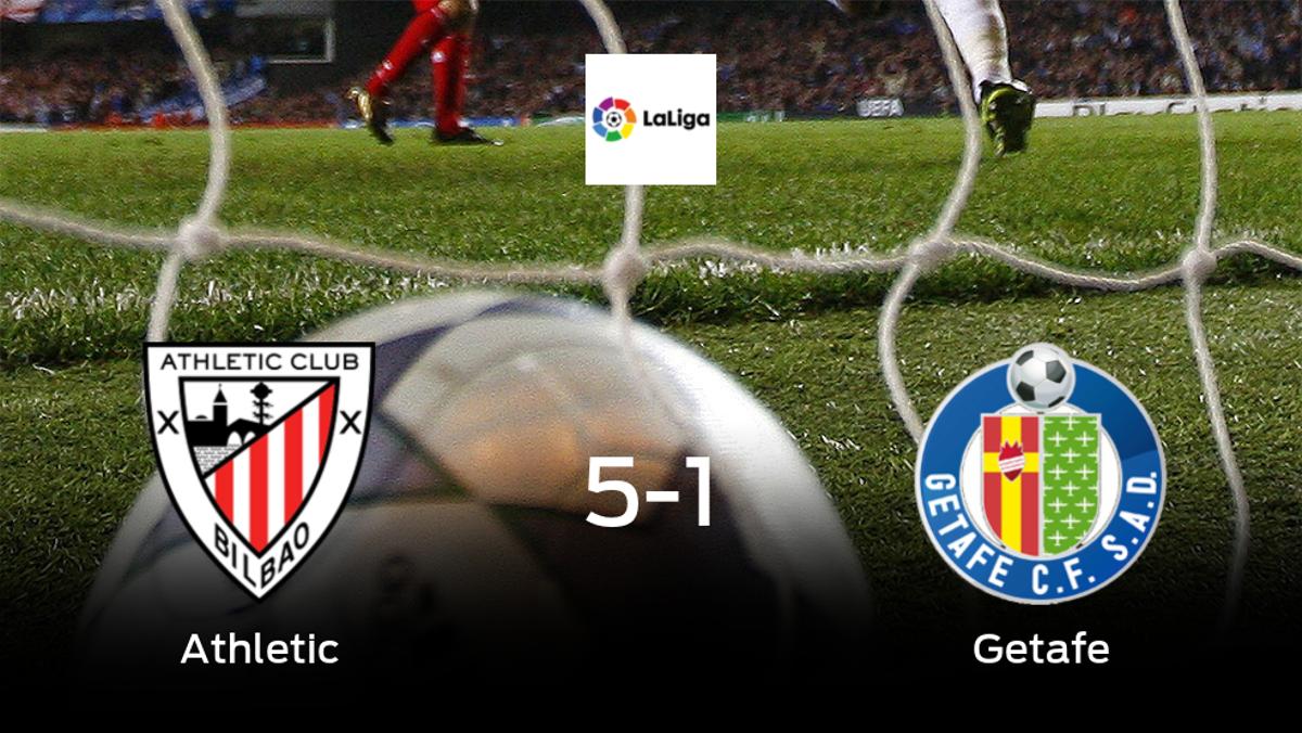 Victoria para el Athletic tras golear 5-1 al Getafe