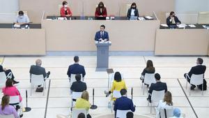 Intervención de Pere Aragonès durante la segunda sesión de investidura.