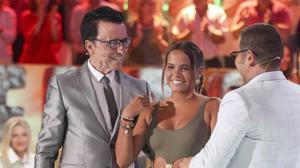 Una imagen del 'Supervivientes' en el que José Ortega Cano recibía a su hija Gloria Camila, a su salida del 'reality'.