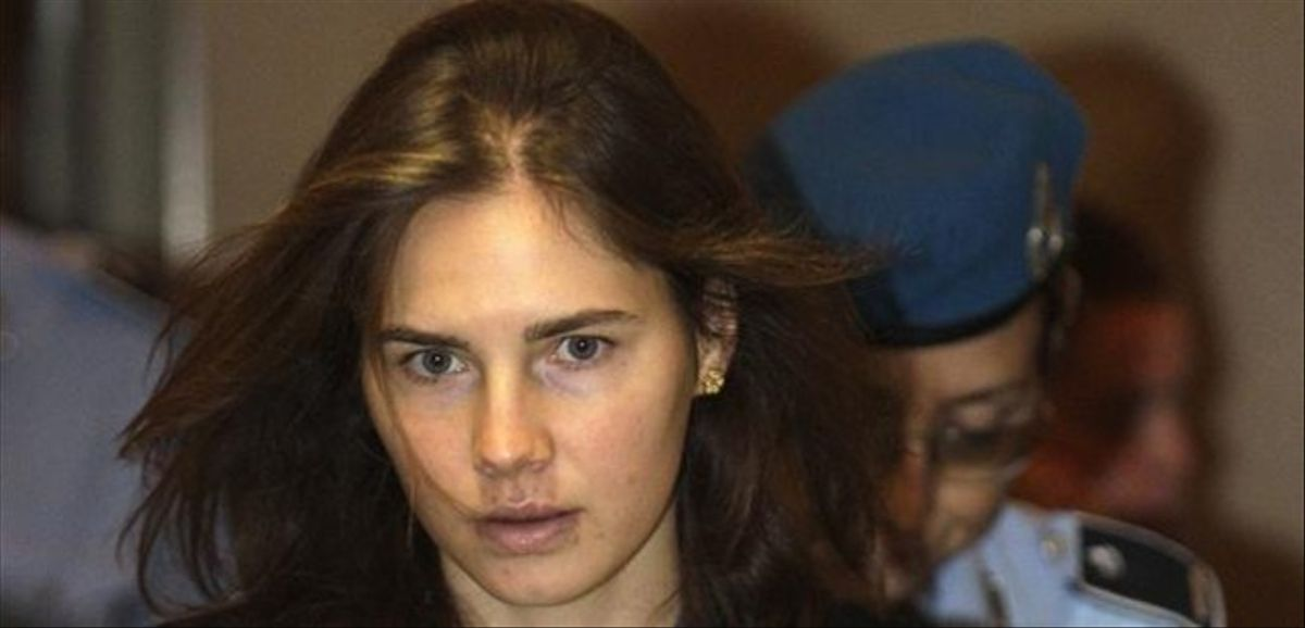 Amanda Knox llega al tribunal de Perugia, en septiembre del 2011.