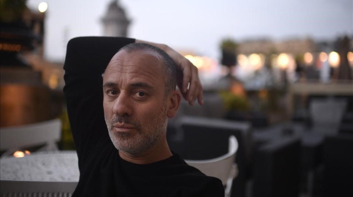 El actor Javier Gutiérrez, en el festival de San Sebastián, donde concursa con 'El autor'.