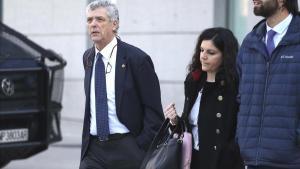 El expresidente de la RFEF Ángel María Villar asu llegada a laAudiencia Nacional.