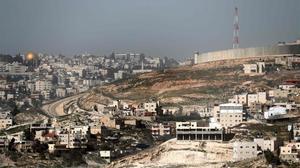 El polémico muro que Israel ha construído en Jerusalén Este.