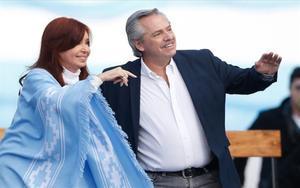 Alberto Fernández yCristina Fernández, candidatos presidenciales de Argentina.