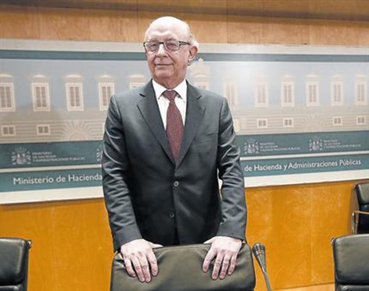 El titular de Hacienda, Cristóbal Montoro, el pasado abril.