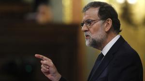 El presidente del Gobierno, Mariano Rajoy, en el Congreso de los Diputados.
