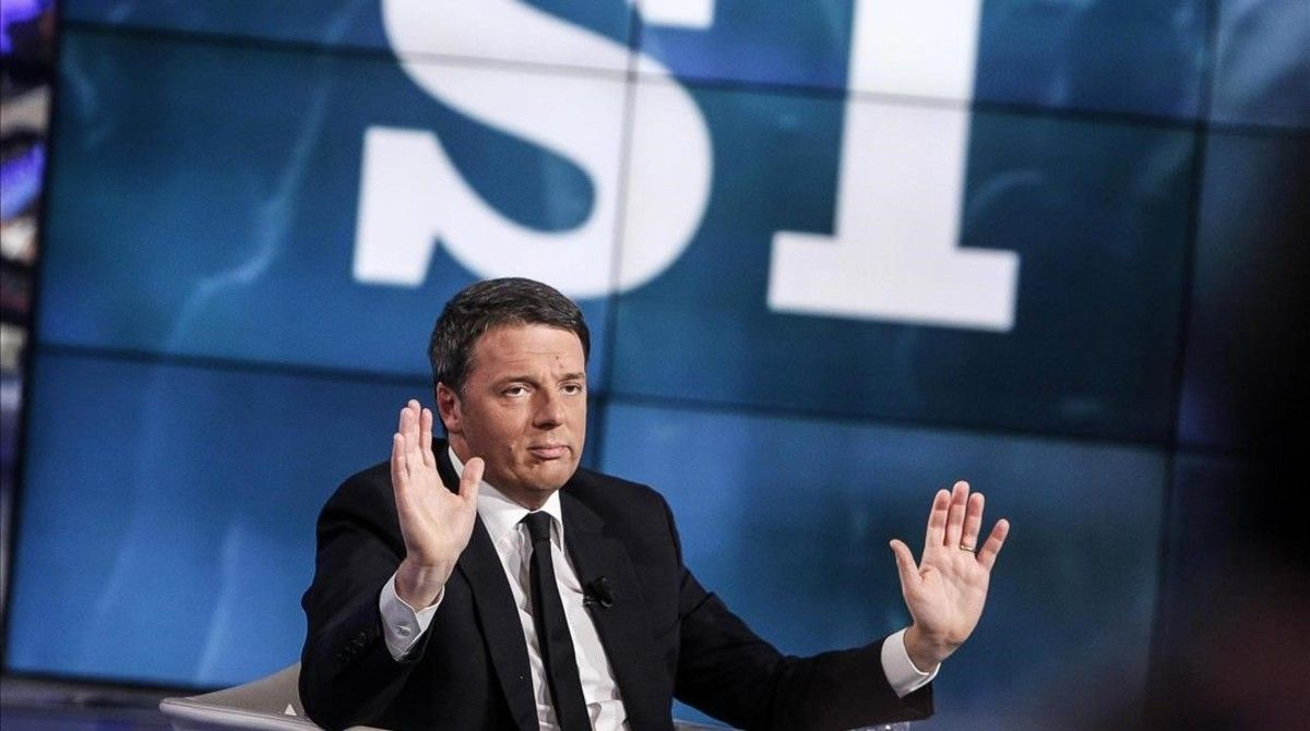 Matteo Renzi, en un programa televisivo.