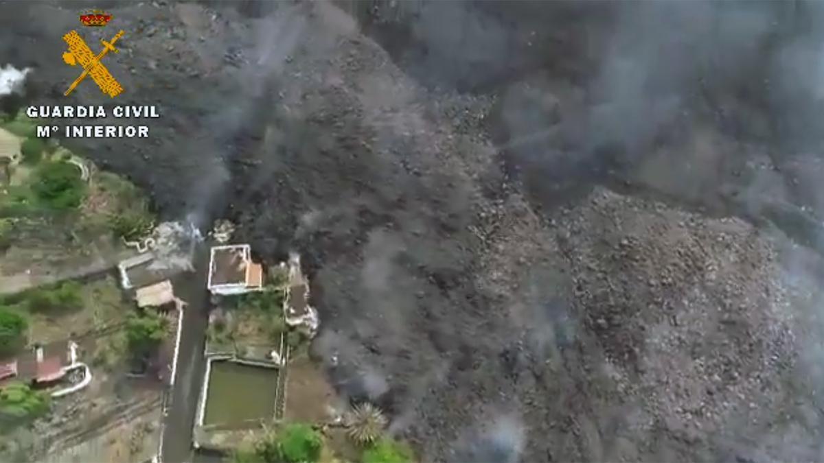 Vídeo realizado por el dron de la Guardia Civil, el 28 de septiembre