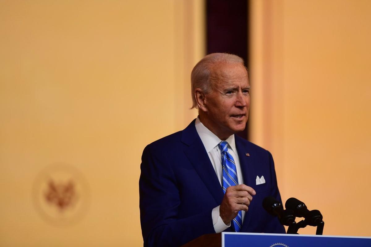 Joe Biden, durante el discurso de Acción de Gracias, el pasado 25 de noviembre.