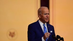 WILMINGTON, DE - NOVEMBER 25: President-elect Joe Biden delivers a Thanksgiving address at the Queen Theatre on November 25, 2020 in Wilmington, Delaware.As Biden waits to be approved for official national security briefings, the names of top members of his national security team were announced yesterday to the public. Calls continue for President Trump to concede the election and let the transition proceed without further delay.   Mark Makela/Getty Images/AFP