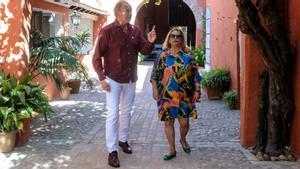 Bertín Osborne y Carmina Barrios en 'Mi casa es la tuya'.