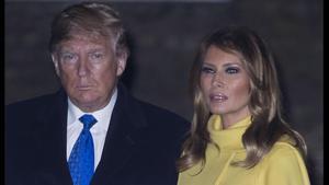 Donald Trump y Melania, en Londres, este martes.