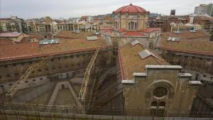 Aspecto de la prisión Modelo de Barcelona, el pasado abril