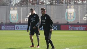 Leo Messi, esta semana, durante un entrenamiento con la selección albiceleste.