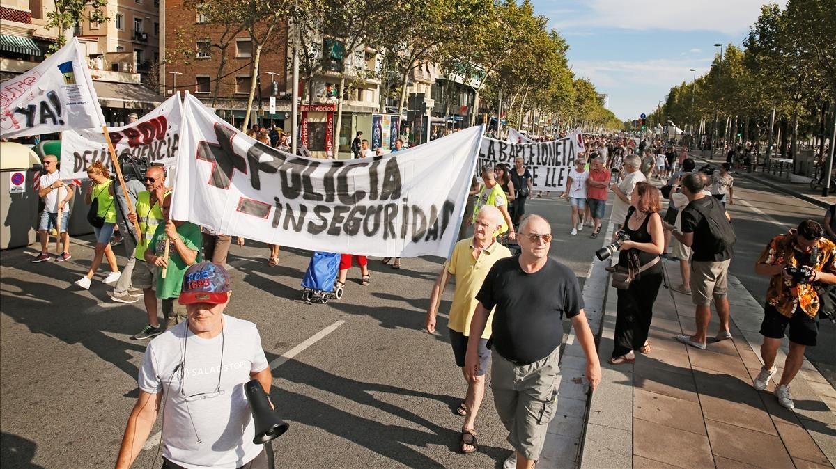 Manifestación en Barcelona contra el incivismo.