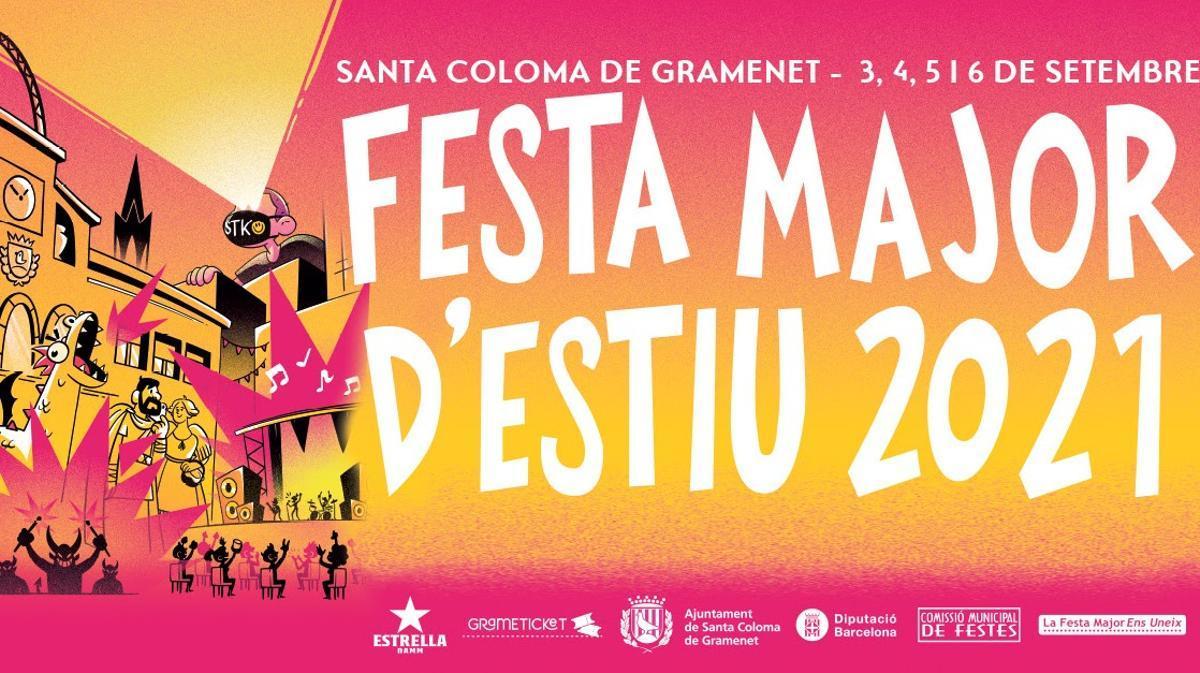 Cartel de la Fiesta Mayor de Santa Coloma de Gramenet 2021.