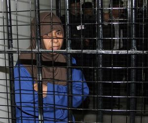 La yihadista iraquí ejecutada, Sajida al Rishawi, en la cárcel de Juwaida, en Ammán, en el 2006.