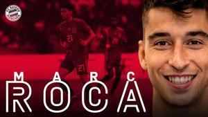 El anuncio del fichaje de Marc Roca en la web del Bayern.