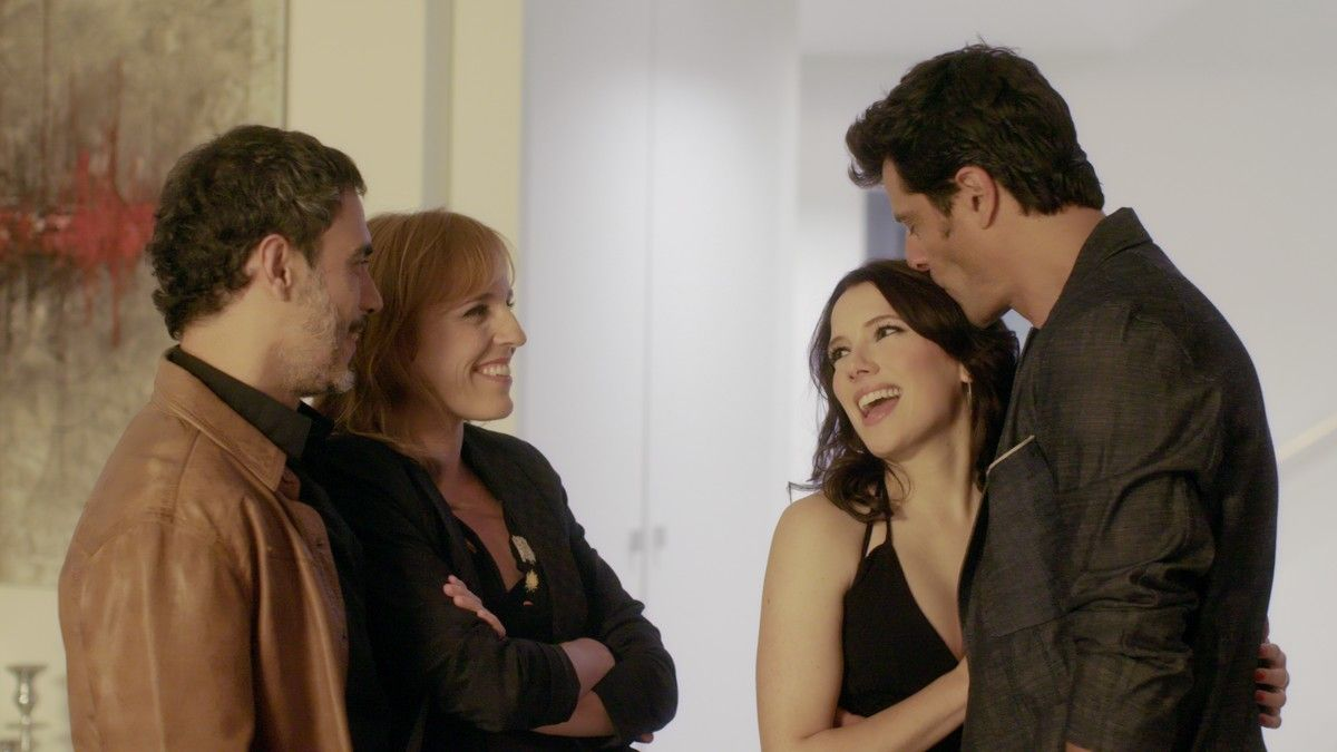 Julio Manrique, Sara Espígul, Diana Gómez y Joel Joan, en la segunda temporada de 'El crac'.