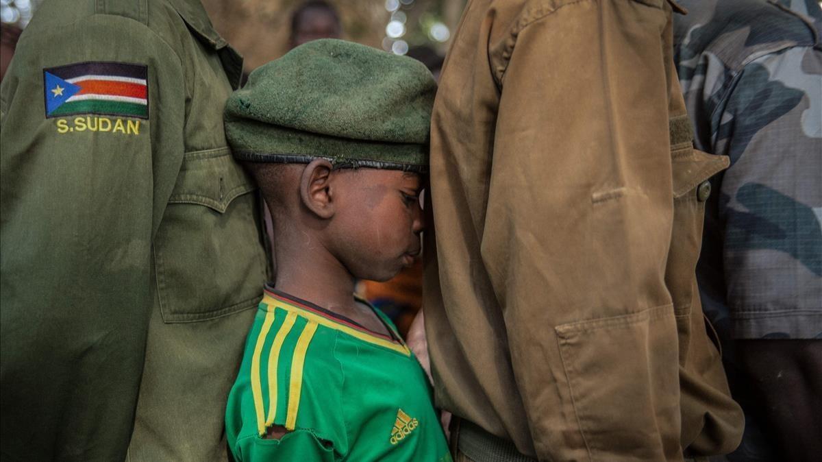 Uno de los niños soldado liberado en Sudán del Sur.