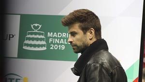 Piqué, en la presentación de la Copa Davis del 2019 en Madrid.