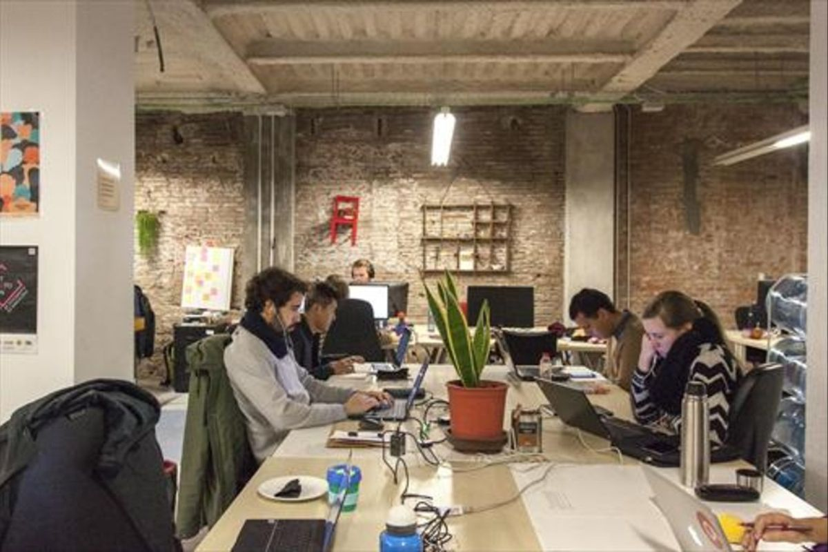 Un centro de 'coworking' enBarcelona.