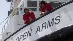 Oscar Camps, fundador y director de Pro Activa Open Arms, en su barco