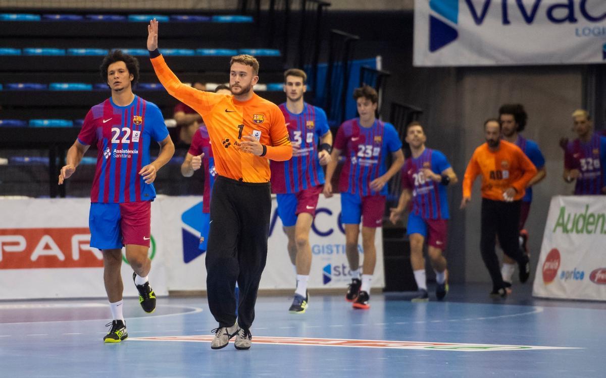 Un gran Gonzalo guia el sòlid triomf del Barça a Flensburg