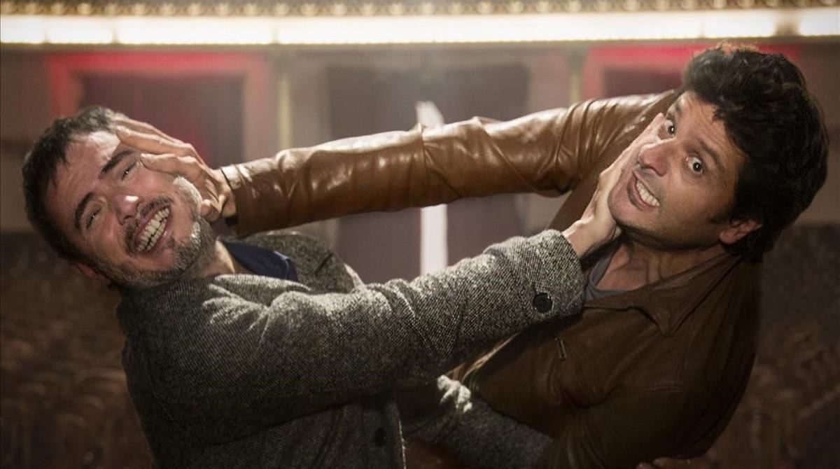 Julio Manrique y Joel Joan, en pleno duelo en 'El crac'.