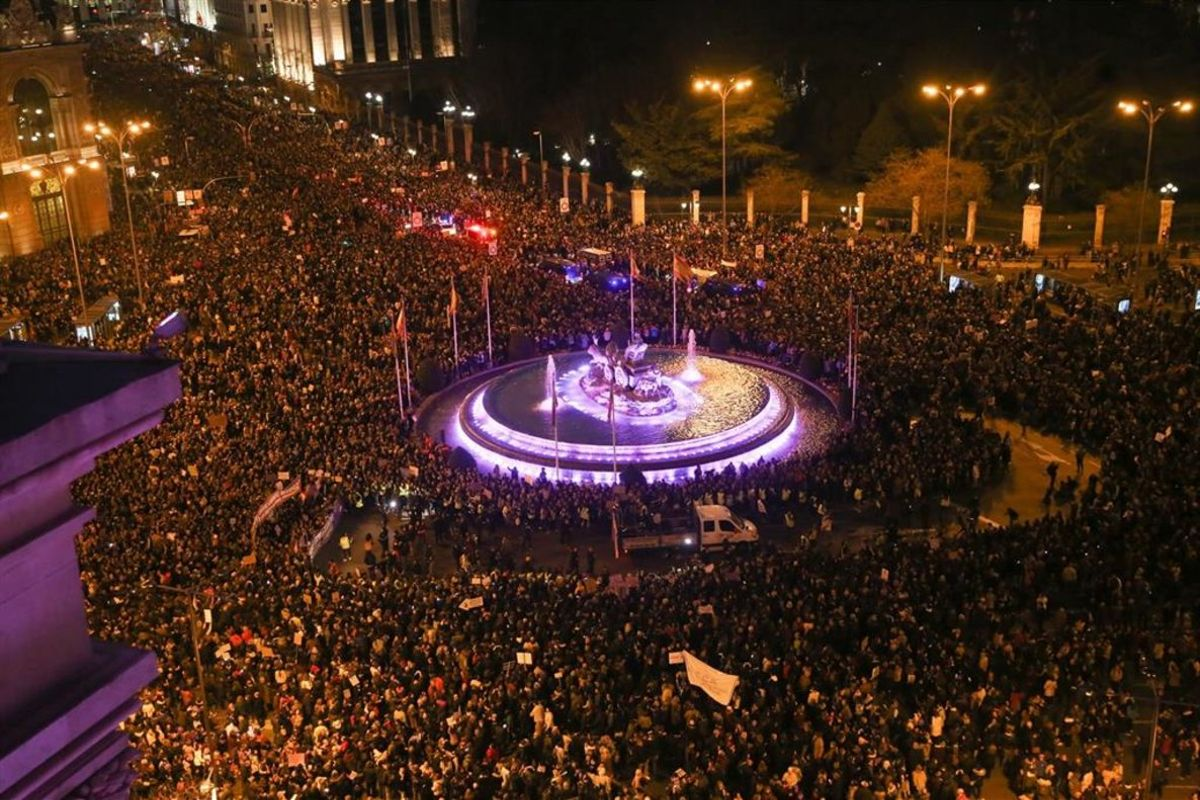 Huelga del pasado 8-M del 2019 en Madrid.
