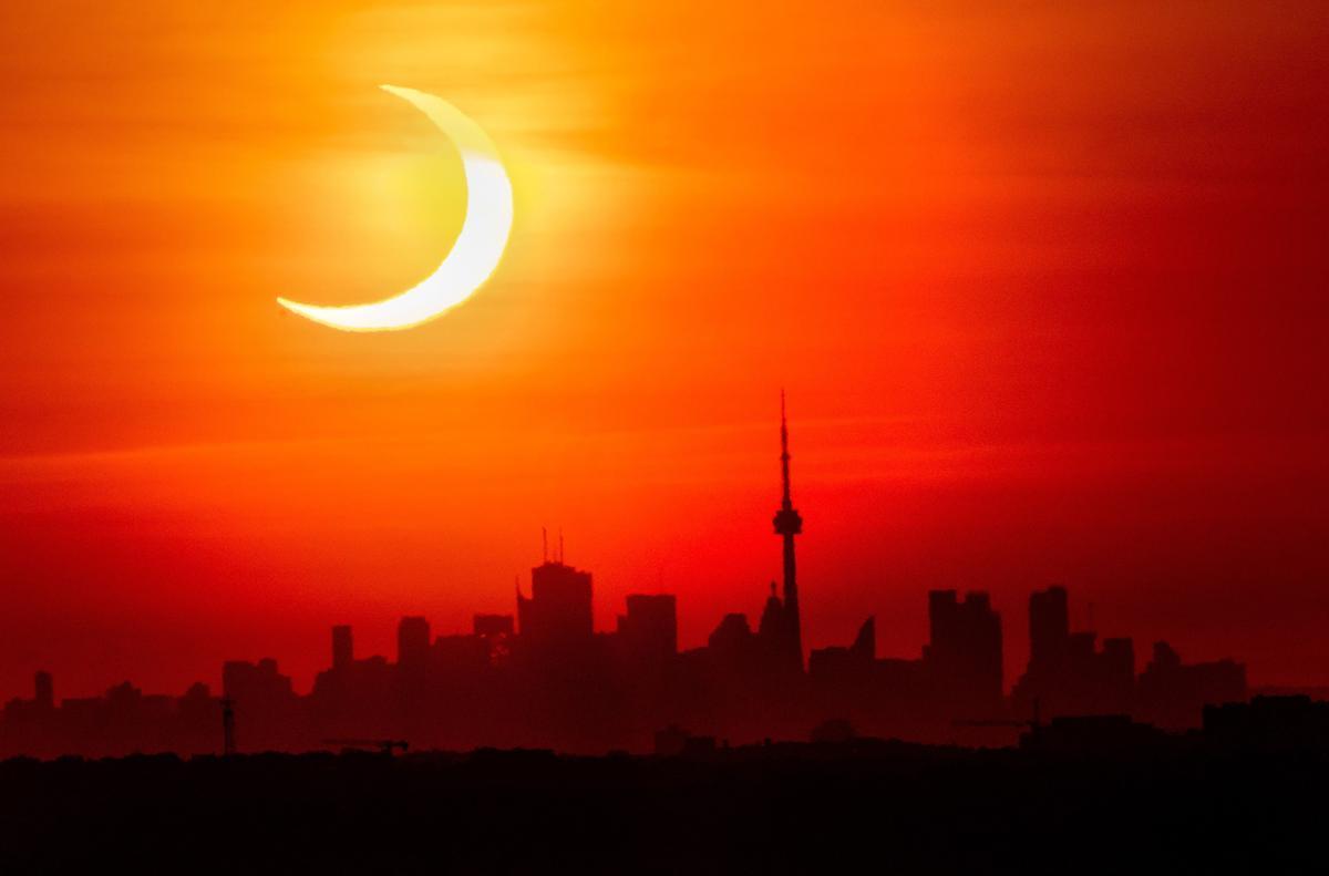 Eclipse solar parcial en Toronto