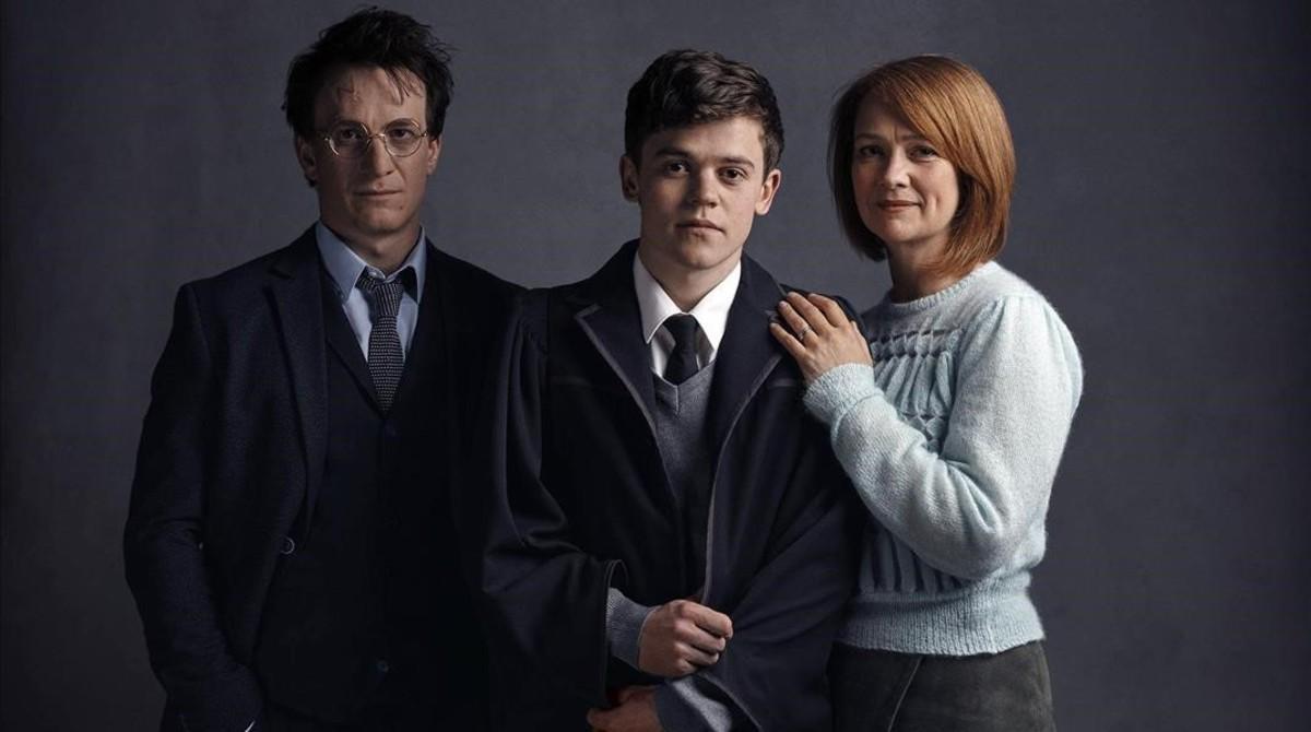 La familia Potter, en la obra de teatro que se estrena el próximo mes de julio.
