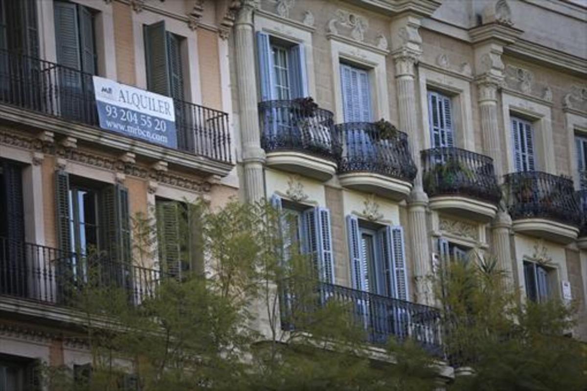 Anuncio de una vivienda de alquiler en el Eixample de Barcelona.