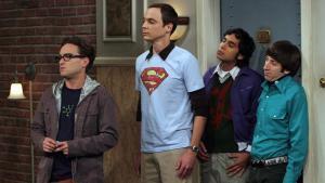 Johnny Galecki, Jim Parsons, Kunal Nayyar y Simon Helberg, en uno de los episodios de 'The Big Bang Theory'.