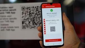 La aplicación para comprar el billete sencillo.