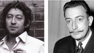 Serge Gainsbourg y Salvador Dalí