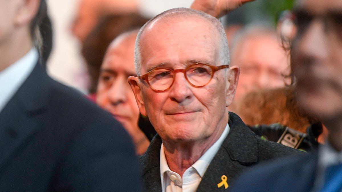 Xavier Trias, durante el pregón de las fiestas de Santa Eulàlia, el miércoles.