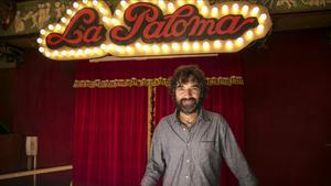 El director y guionista Mateo Gil, durante el rodaje en Barcelona de 'Las leyes de la termodinámica'.