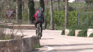 La carretera de Polinyà del Xúquer (Valencia) donde un ciclista ha muerto tras ser picado por una abeja.