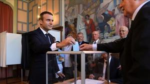 Macron vota en Le Touquet.