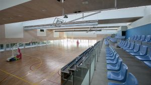 Un polideportivo municipal de L'Hospitalet de Llobregat.