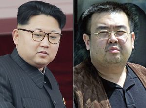 FILE - This combination of file photos shows North Korean leader Kim Jong Un  left  on May 10  2016  in Pyongyang  North Korea  and Kim Jong Nam  right  exiled half brother of Kim Jong Un  in Narita  Japan  on May 4  2001  South Koreaa  s spy agency believes that Kim Jong Nam was assassinated this week in a Malaysian airport as part of a five-year plot by   Kim Jong Un to kill a brother he reportedly never met  If this is right  the motive likely has more to do with their shared bloodlines - and that volcano - than any specific transgression   AP Photos Wong Maye-E  Shizuo Kambayashi  File