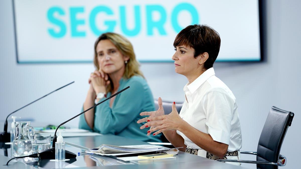 Rueda de prensa posterior al Consejo de Ministros, en la que han comparecido las ministras Isabel Rodríguez y Teresa Ribera.
