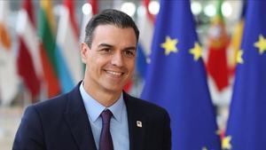 Pedro Sánchez, este jueves en Bruselas.