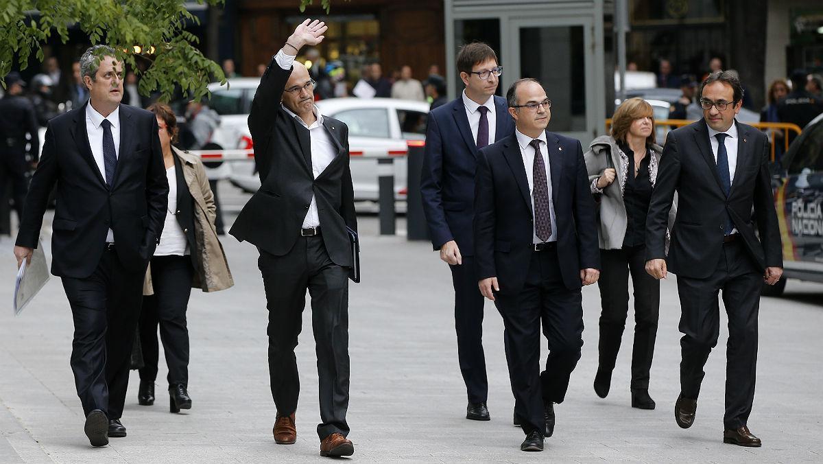 Los 'exconsellers' y los Jordis pedirán volver a declarar para quedar en libertad