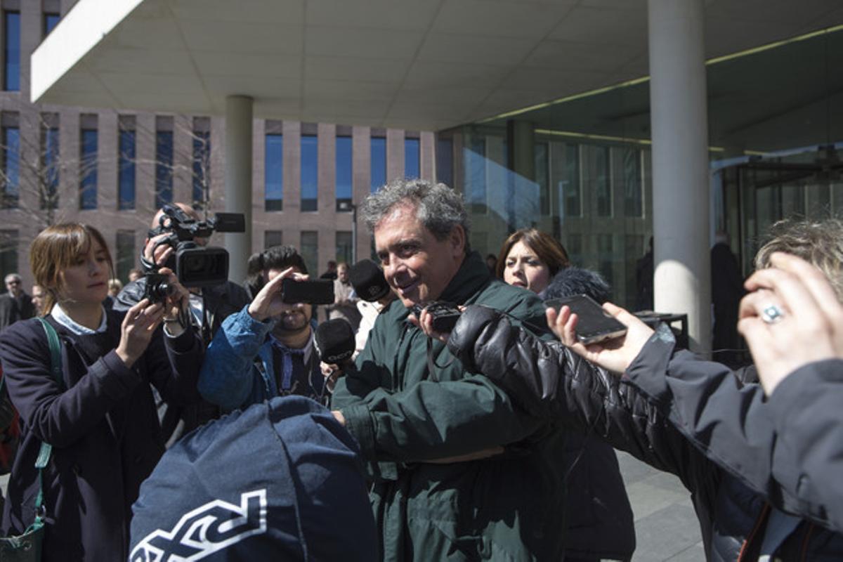 Jordi Pujol Ferrusola, ante la Ciutat de la Justícia, donde declaró el pasado 26 de marzo.