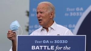 El candidato demócrata, Joe Biden, durante un mitin en Atlanta.