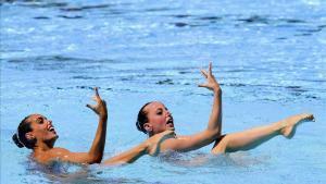 Ona Carbonell y Paula Ramírez, en un momento de su actuación