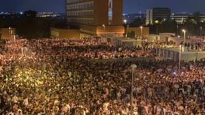 Botellón en la Ciudad Universitaria de Madrid